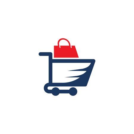 Shopping Bag Online Shop Marketplace Buy Sell Cart Logo Icon Symbol