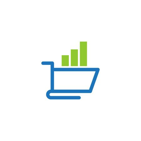 Shopping Online Shop Marketplace Buy Sell Statistic Cart Logo Icon Symbol