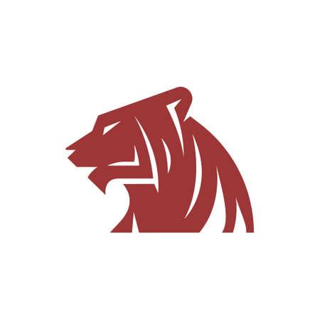 Tiger Jaguar Leopard Cougar Head Simple  Template