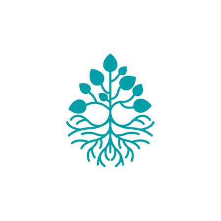Plant Tree Root Grow Eco Earth Environment Logo Symbol Ilustracja