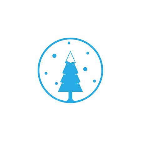 Winter Snow Fir Coniferous Pine Forest Tree Nature Logo