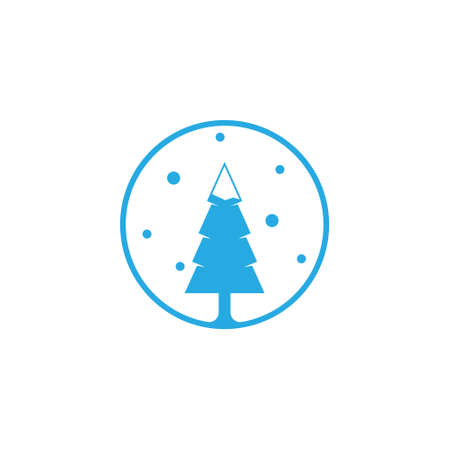 Winter Snow Fir Coniferous Pine Forest Tree Nature Logo Stock Vector - 154872707