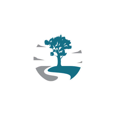 Forest Big Oak Tree Nature Adventure Circle Way Logo