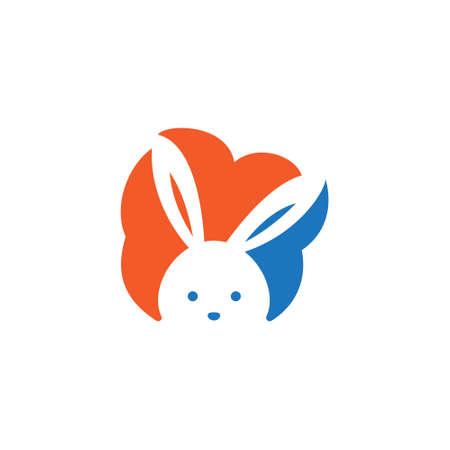 Cute Rabbit Bunny Hare Cloud Negative Space