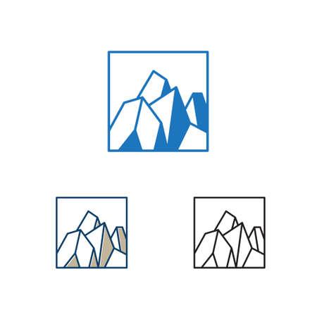 Square Hard Stone Rocky Mountain Cliff Nature Ilustrace