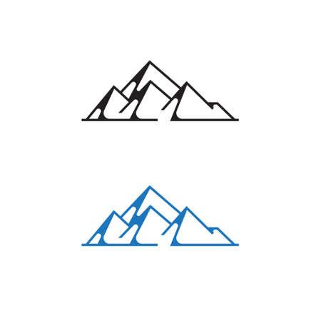 Rocky Mountain Summit Nature Explore Adventure Line Ilustrace