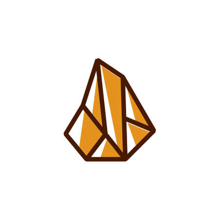 Luxury Gold Stone Treasure Geometric Line Business Illusztráció