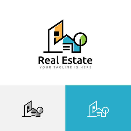 House Home Building Real Estate Simple Modern Logo