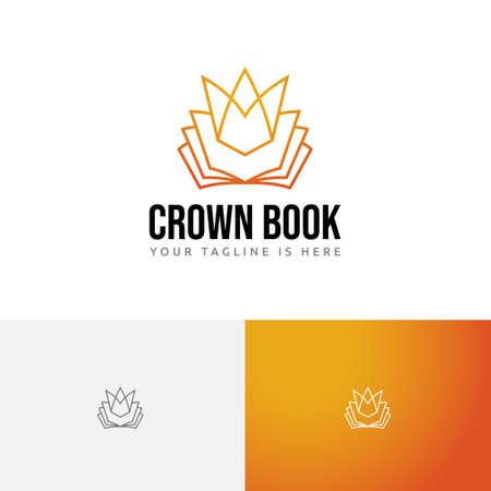 Kingdom Golden Crown Book Study Learning Course School Line Logo