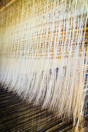 weaving: the traditional weaving machine in thailand native