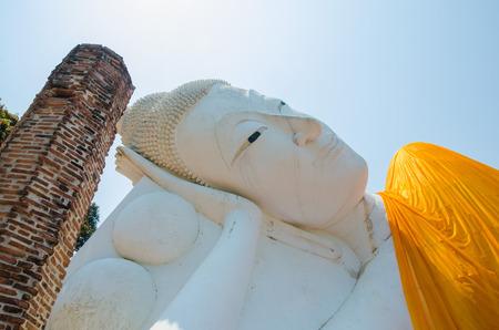 Reclining Buddha of Wat Khun Inthapramun at Angthong Province Thailand