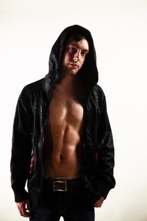 sexy guy: sexy guy in hoodie