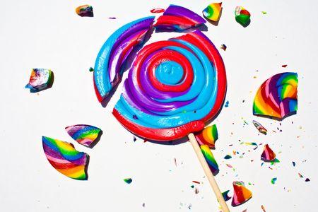 Broken Lollipop Pieces