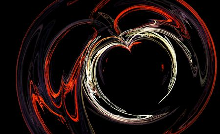 Red & White Heart Fractal