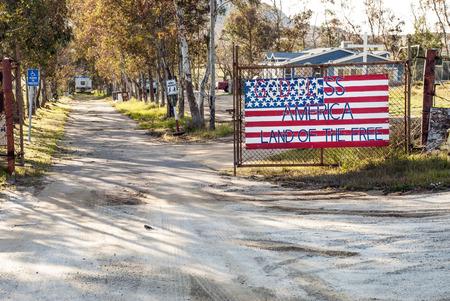 populist: God Bless America American flag