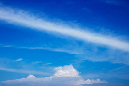 the firmament: Cloudy skies and an afternoon with a relaxing holiday. Stock Photo