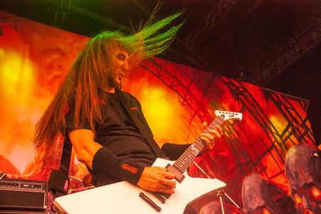 thrash: Heavy metal band Exodus live at Soundwave Festival in Brisbane 2015