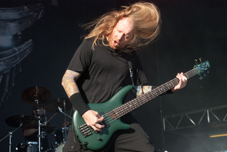 soundwave: Heavy metal band Fear Factory live at Soundwave Festival in Brisbane 2015