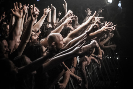 Fans at a heavy metal concert Editorial