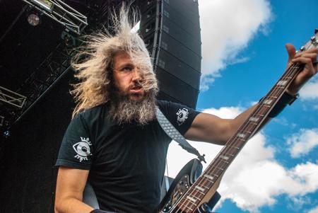 troy: Heavy metal band Killer Be Killed Troy Sanders live at Soundwave Festival in Brisbane 2015 Editorial