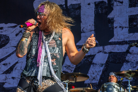 soundwave: Heavy metal band Steel Panther live at Soundwave Festival in Brisbane 2015