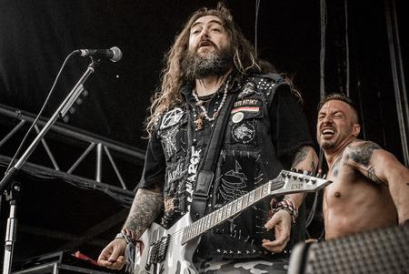 soundwave: Heavy metal band Killer Be Killed Max Cavalera live at Soundwave Festival in Brisbane 2015