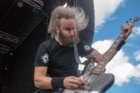 soundwave: Heavy metal band Killer Be Killed Troy Sanders live at Soundwave Festival in Brisbane 2015 Editorial