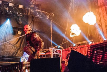 heavy metal: Heavy metal band Slipknot live at Soundwave Festival in Brisbane 2015
