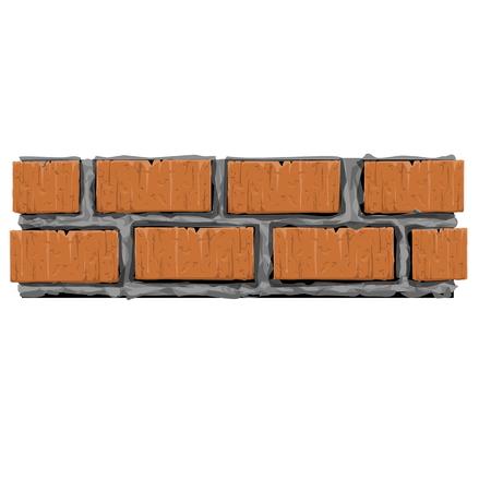 brick and mortar: Brick pattern for  making column or wall Illustration