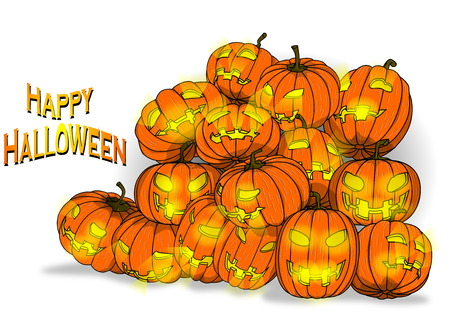 halloween background: Pumpkin Background, for Happy Halloween Illustration