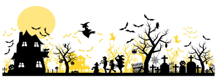fondo transparente: Halloween Background  two layer on transparent background
