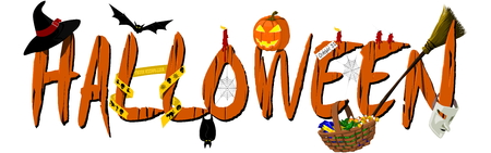 Halloween Banner on transparent Background Illustration