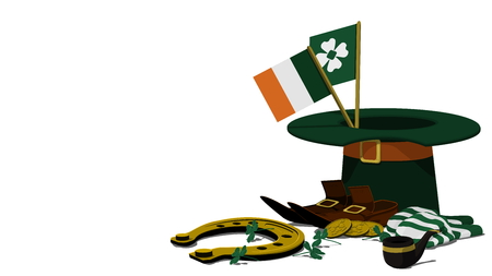 st  patrick's day: Accessories of St. Patricks Day Background