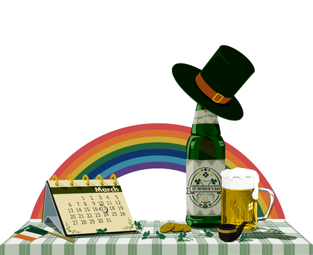 st: Accessories of St. Patricks Day Background