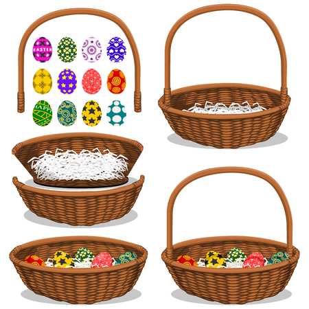 arrange: 1 set of basket component  Front ,Back ,handleand 12 basic Easter eggs without shadow, you can arrange your own composition refer to  the 3 sample compositions or others which you want