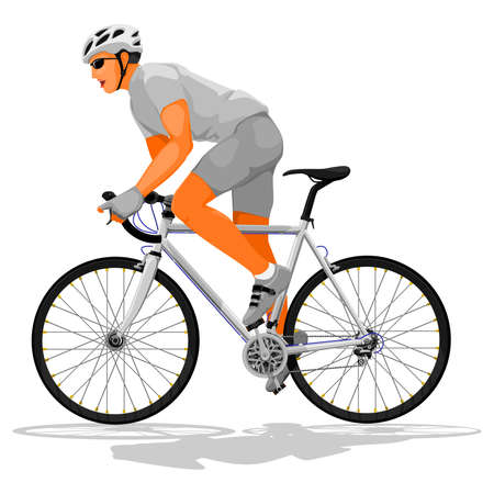 basic: Basic road cyclist without pattern on frame for creating your own variation