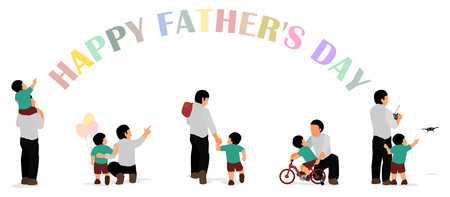 dad son: Happy Fathers day Banner