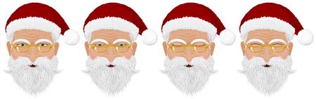 face close up: Close up of Santas face