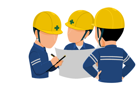 Workers are meeting together on transparent background Stock Illustratie