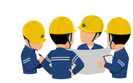 Workers are meeting together on transparent background 向量圖像