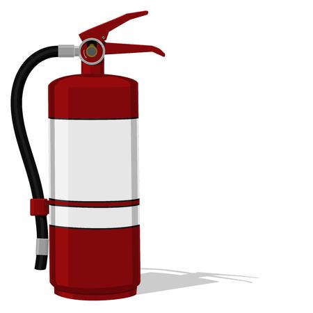 dangerous: Isolated extinguisher on transparent background Illustration