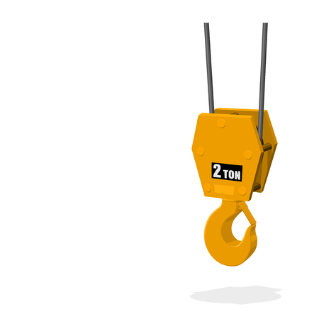 Isolated hook on transparent background