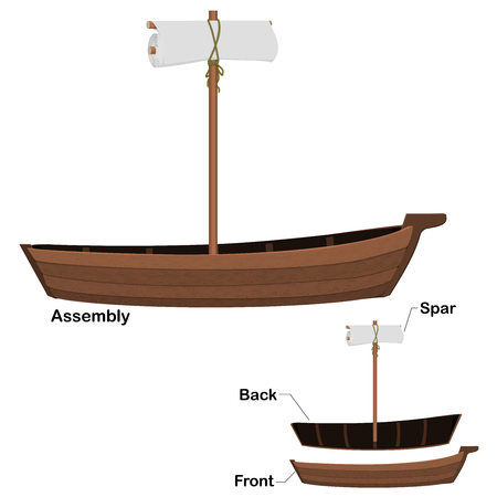 Isolated Boat component on transparent background