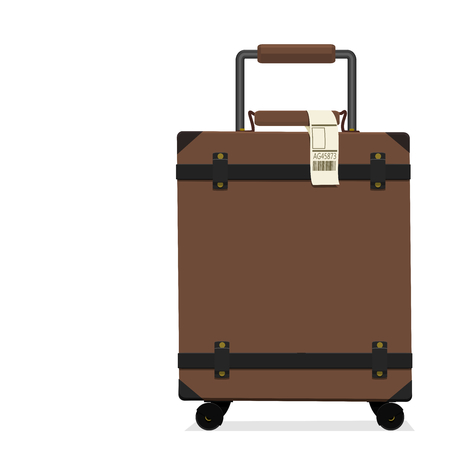 isolated vintage baggage on transparent background 向量圖像