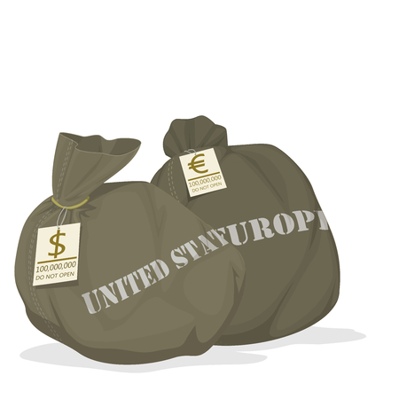Isolated Money bag with tag on transparent background