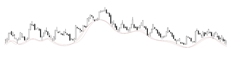 exponential: Candle stick stock chart on transparent background