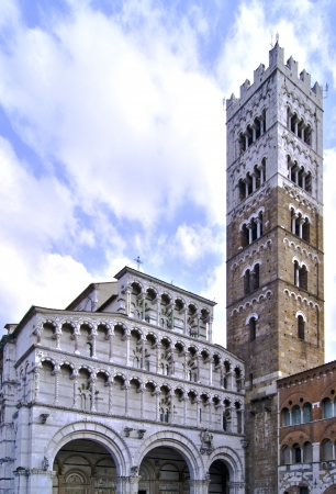 elaboration: HDR elaboration of Cathedral of St Martin in Lucca, Italy.