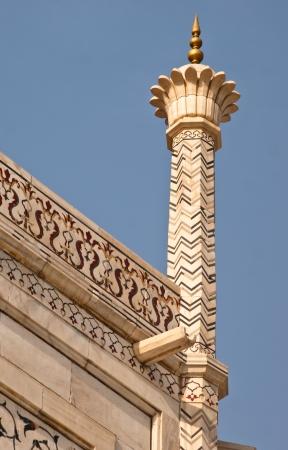 View of a guldasta of Taj Mahal, Agra, India Stock Photo - 13606288