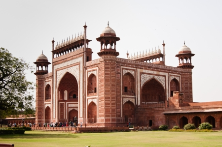 dura: Main Gateway for Taj Mahal entrance. Darwaza is the name of the main gateway of Taj Mahal, Agra, india