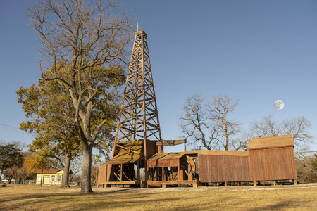 Historic Old Oil Well Derrick Stock Photo